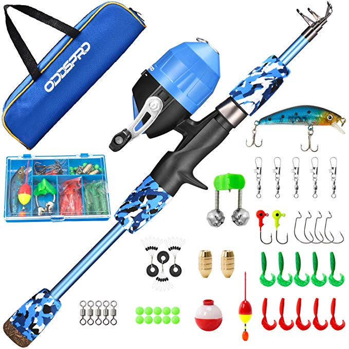 ODDSPRO Kids Fishing Pole Kit