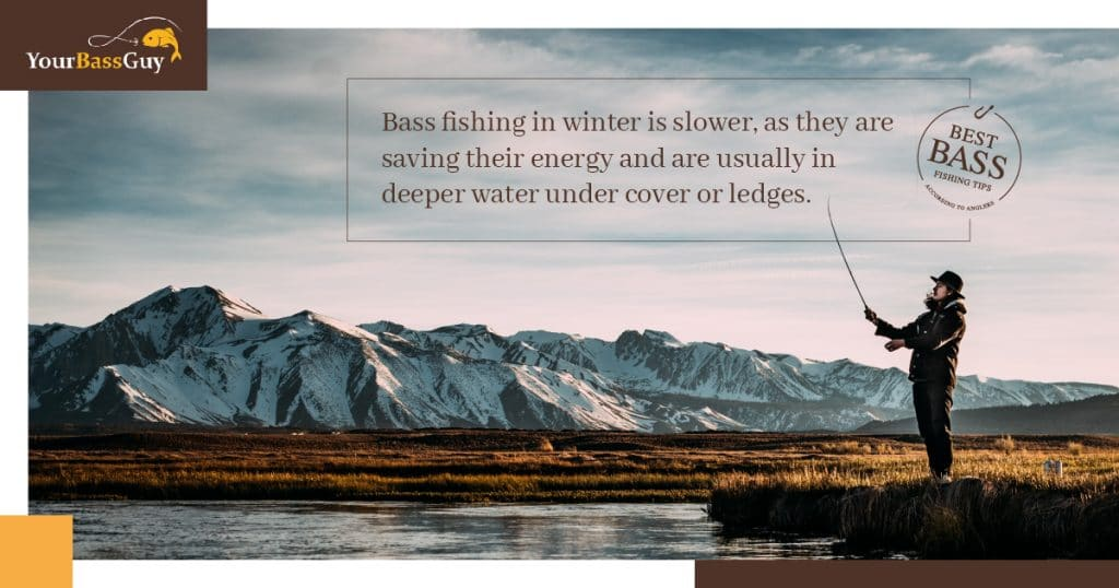 bass fishing in the winter