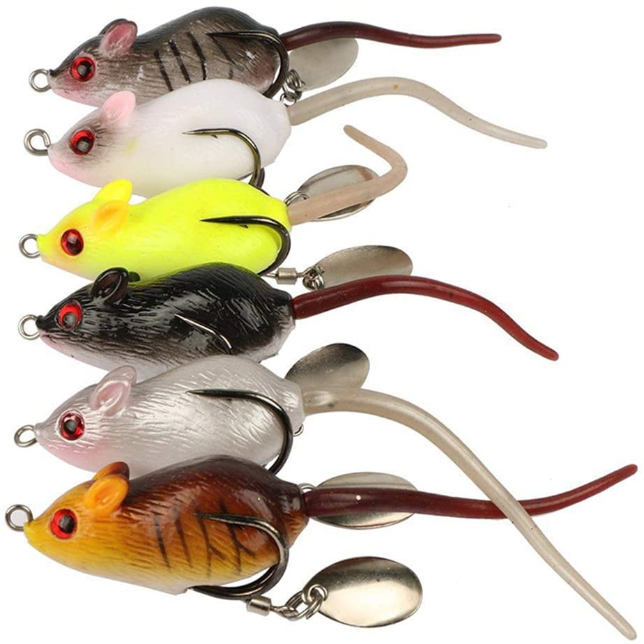OKDeals 6pcs Mouse Topwater Lures
