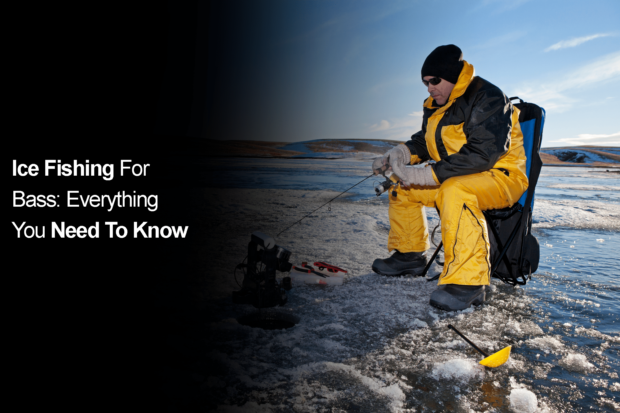 Ice fishing for bass