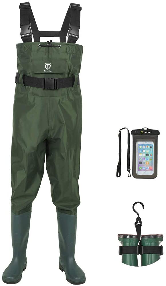 FISHING WADERS WITH BOOT HANGERS