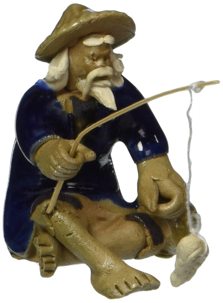 DESKTOP FISHING FIGURINE