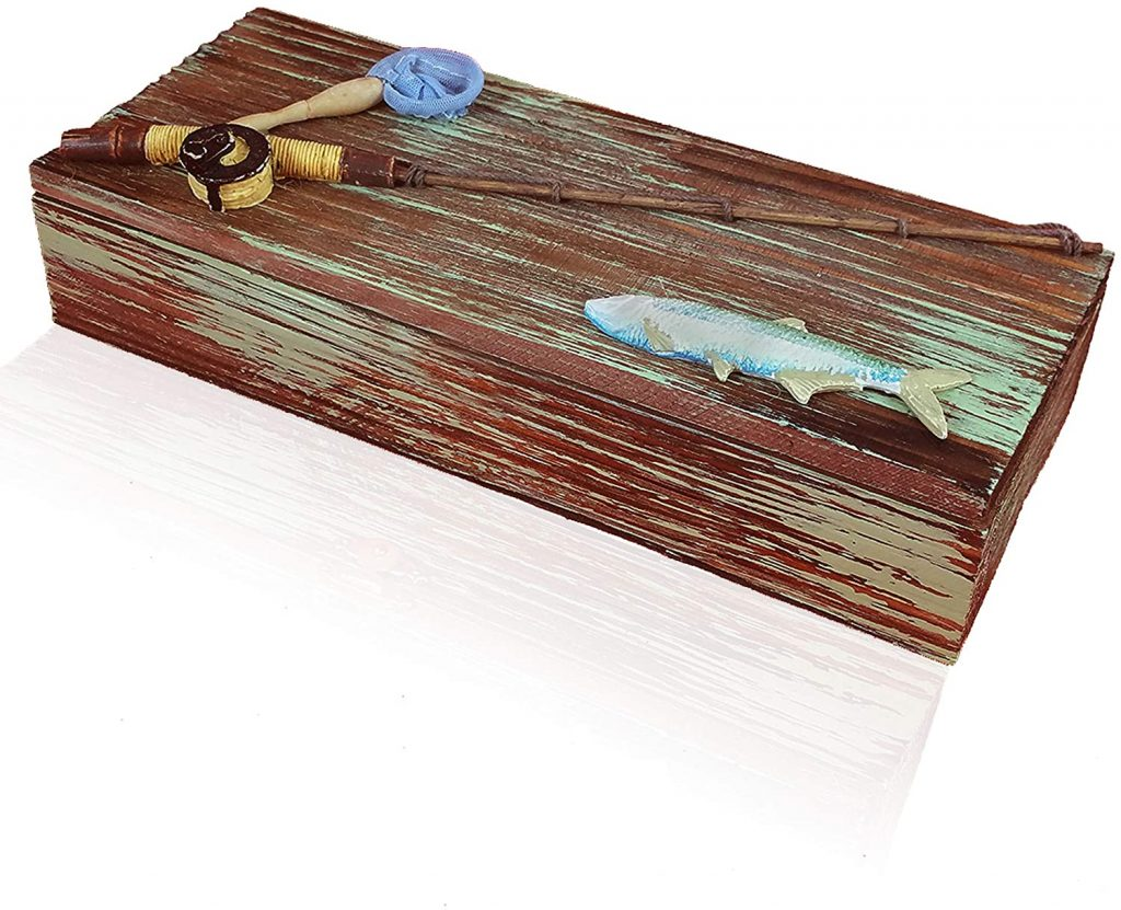 WOODEN FISHING BOX