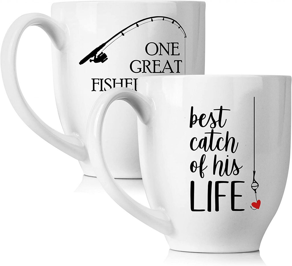 HIS AND HER FISHING MUGS