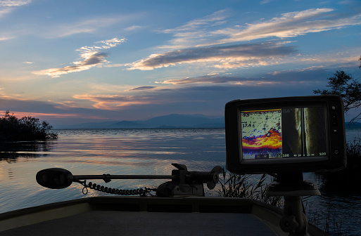 fish finder on a boat