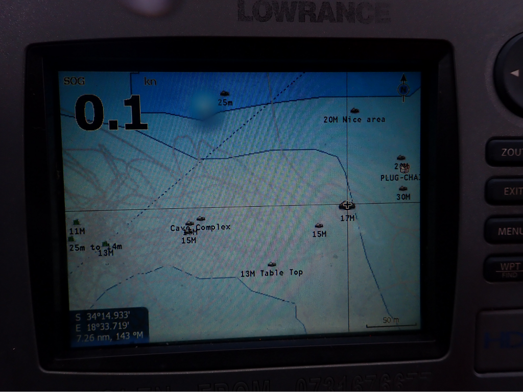 Screen of fish finder