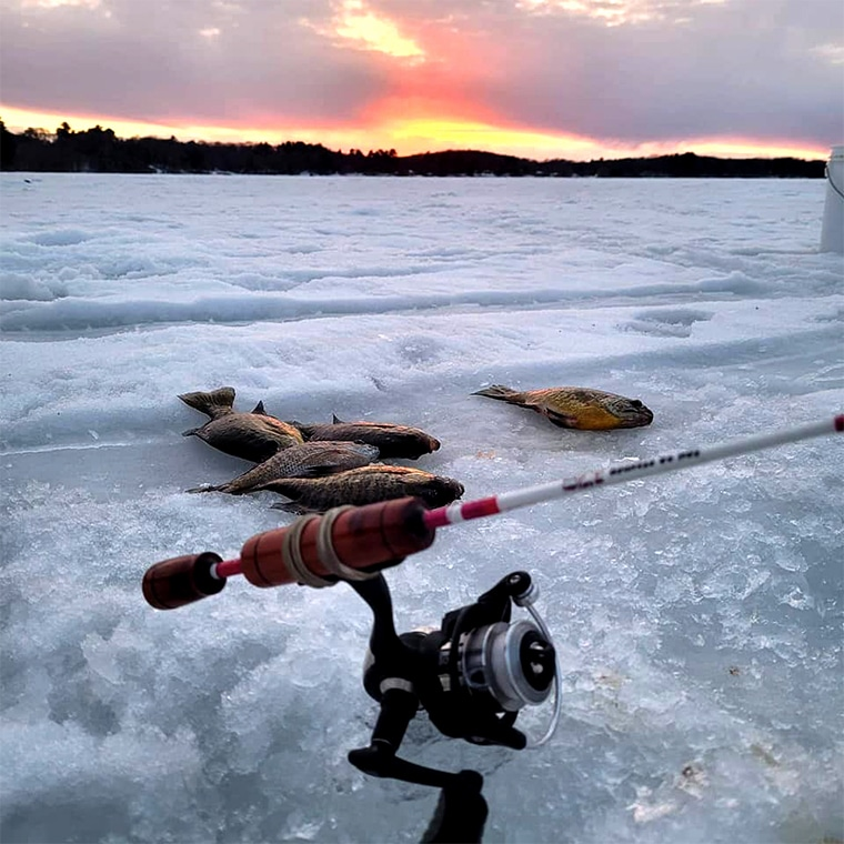 best ice fishing reels rigged up