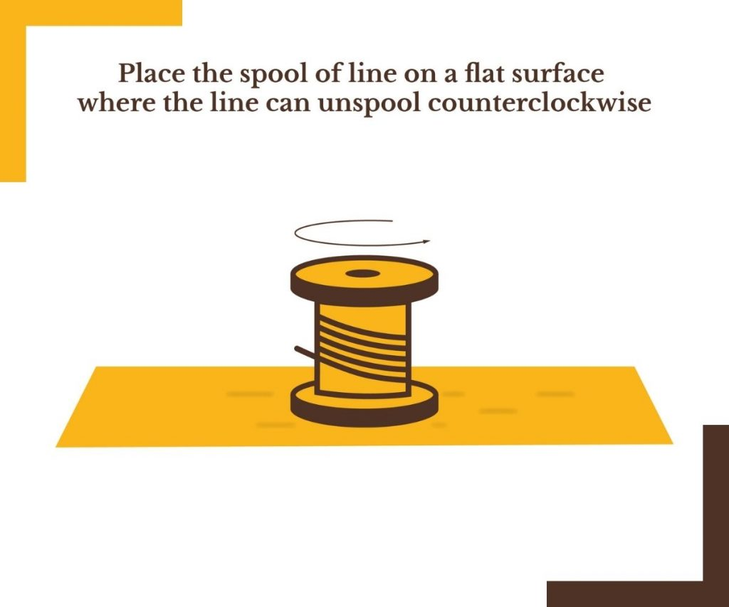 Ensure the Fishing Line Spool is Unspooling Counterclockwise