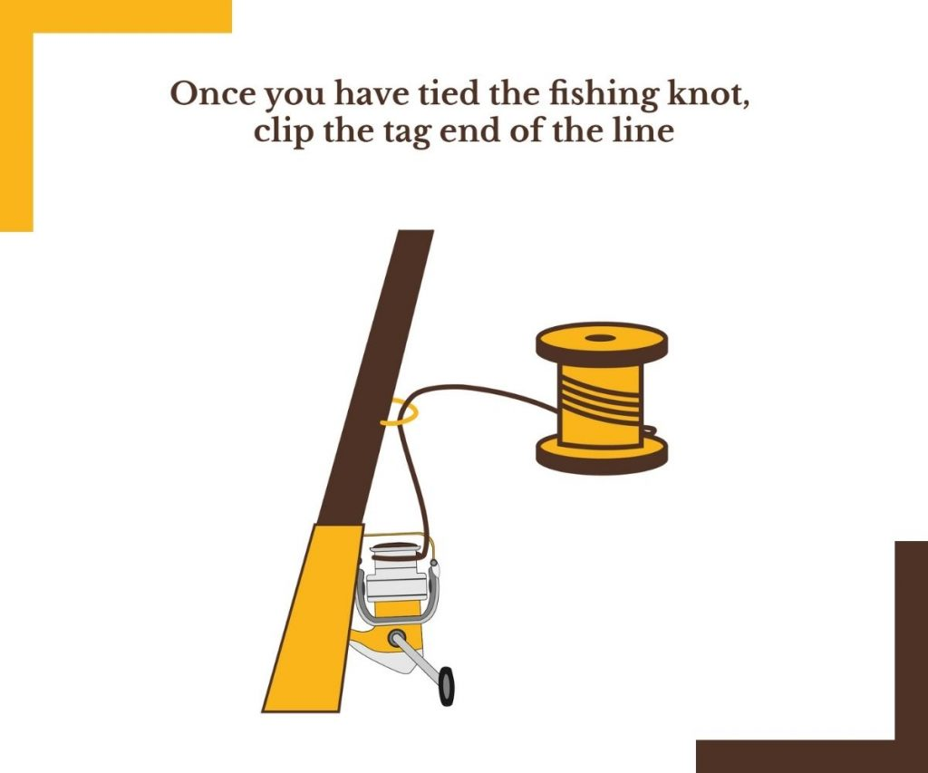 TYING THE KNOT AROUND THE SPINNING REEL SPOOL