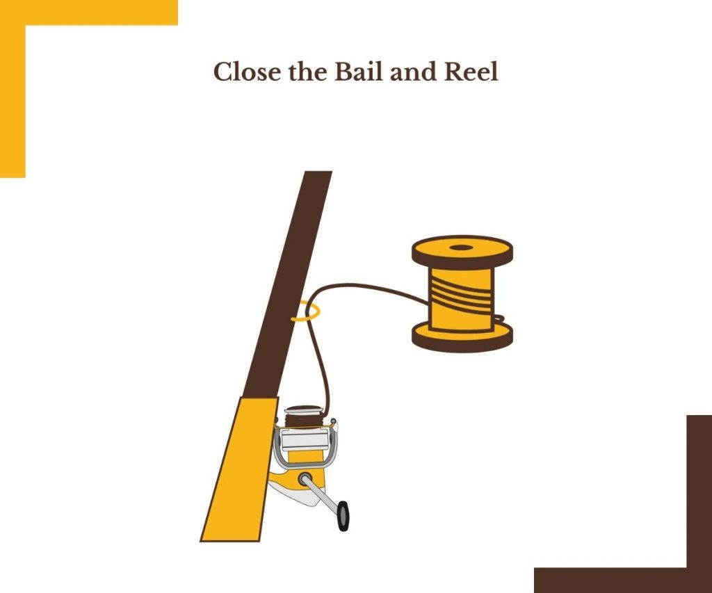 CLOSE THE BAIL AND REEL