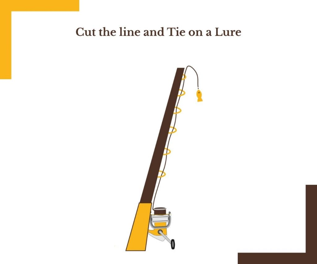 Cut the line and Tie on a Lure